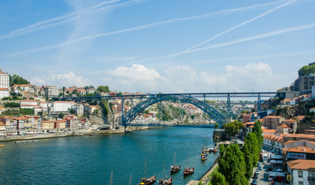 Dom Luis brug in Porto, Portugal